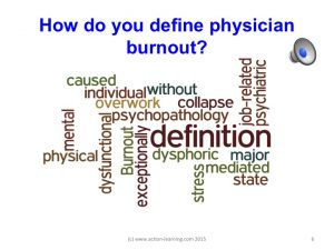 The p sychiatric definition of physician burnout.
